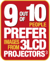 9 out of 10 prefer 3lcd projectors